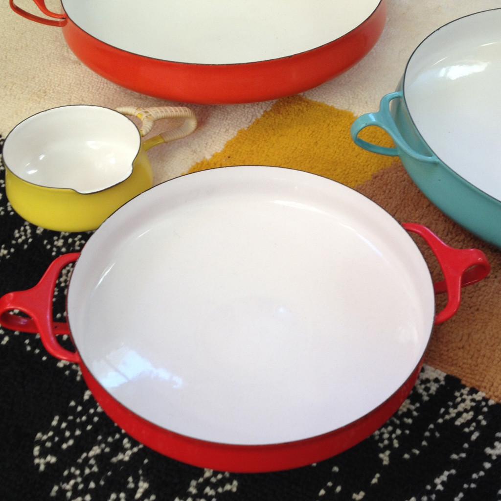 Dansk Kobenstyle enamelware at midcenturysanjose.com
