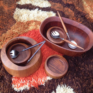 vintage teak serving pieces Dansk Digsmed midcenturysanjose