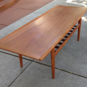 Grete Jalk teak coffee table midcenturysanjoe