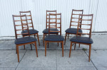 Set of six Danish Koefoeds Hornslet teak dining chairs midcenturysanjose