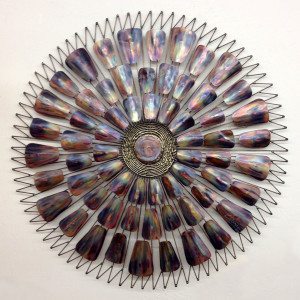 Metal wall sculpture midcenturysanjose