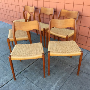 Moller 71 teak chairs at midcenturysanjose.com