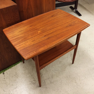 Grete Jalk teak side table at midcenturysanjose