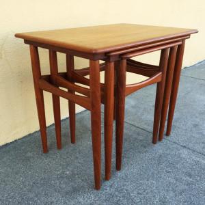 Kai Kristiansen teak nesting tables midcenturysanjose