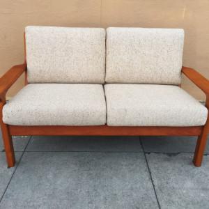 Copenhagen teak loveseat sofa midcenturysanjose.com