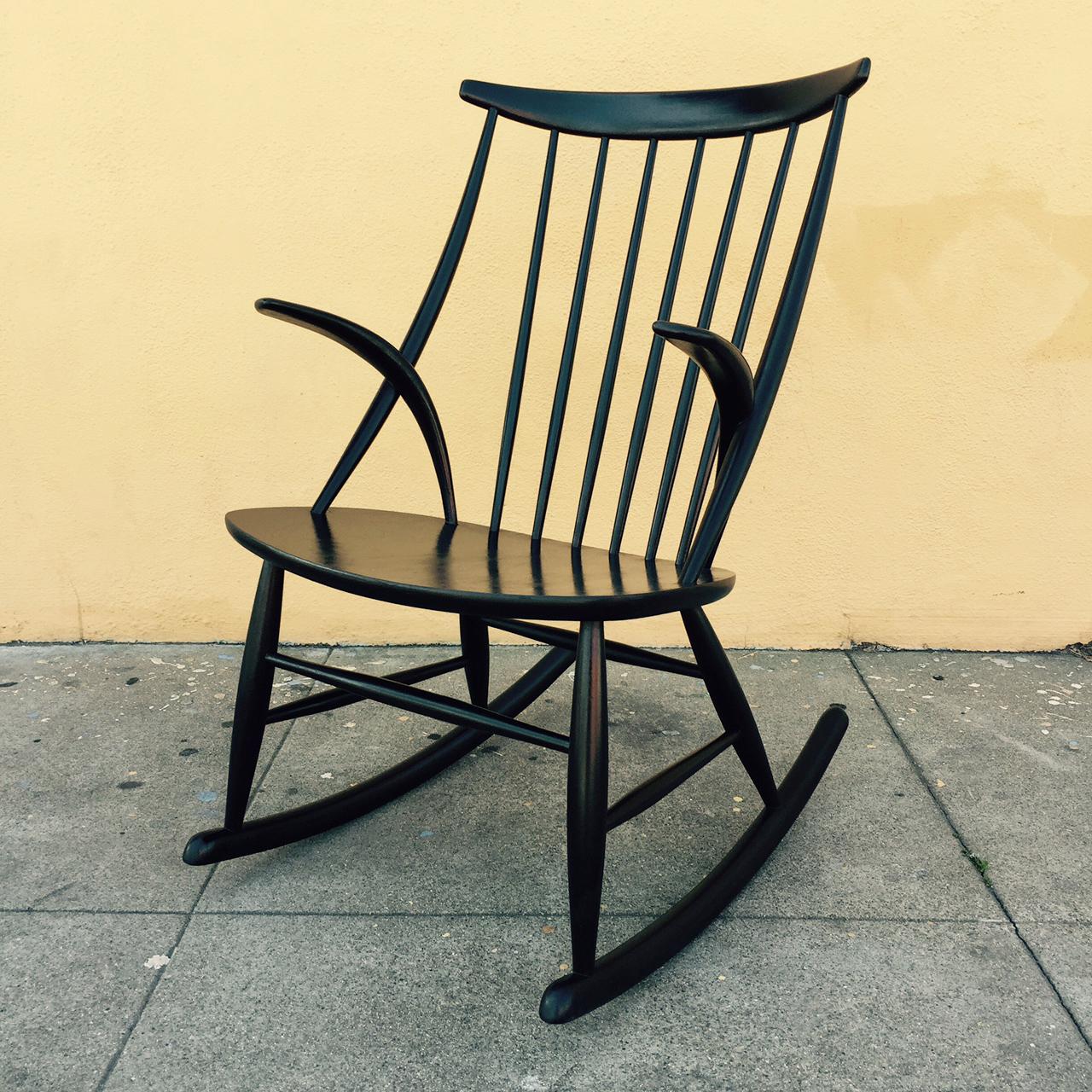 Illum wikkelso rocking chair sold midcenturysanjose for Schaukelstuhl illum wikkelso