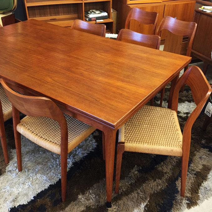 Moller teak dining table