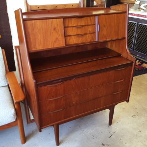 Teak Danish Secretary Desk