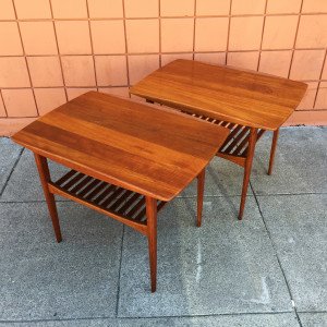 France & Daverkosen teak end tables