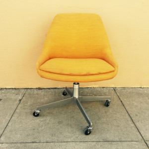 Steelcase orange chair