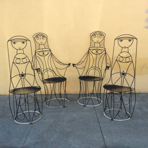 John Risley wire chairs