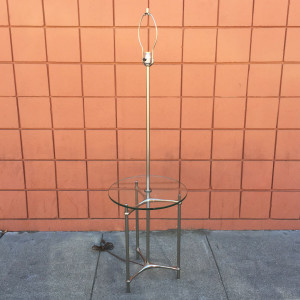 Laurel chrome floor lamp