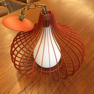 Orange onion pendant light