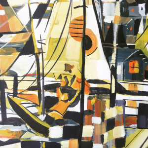 Abstract nautical Wharf Painting