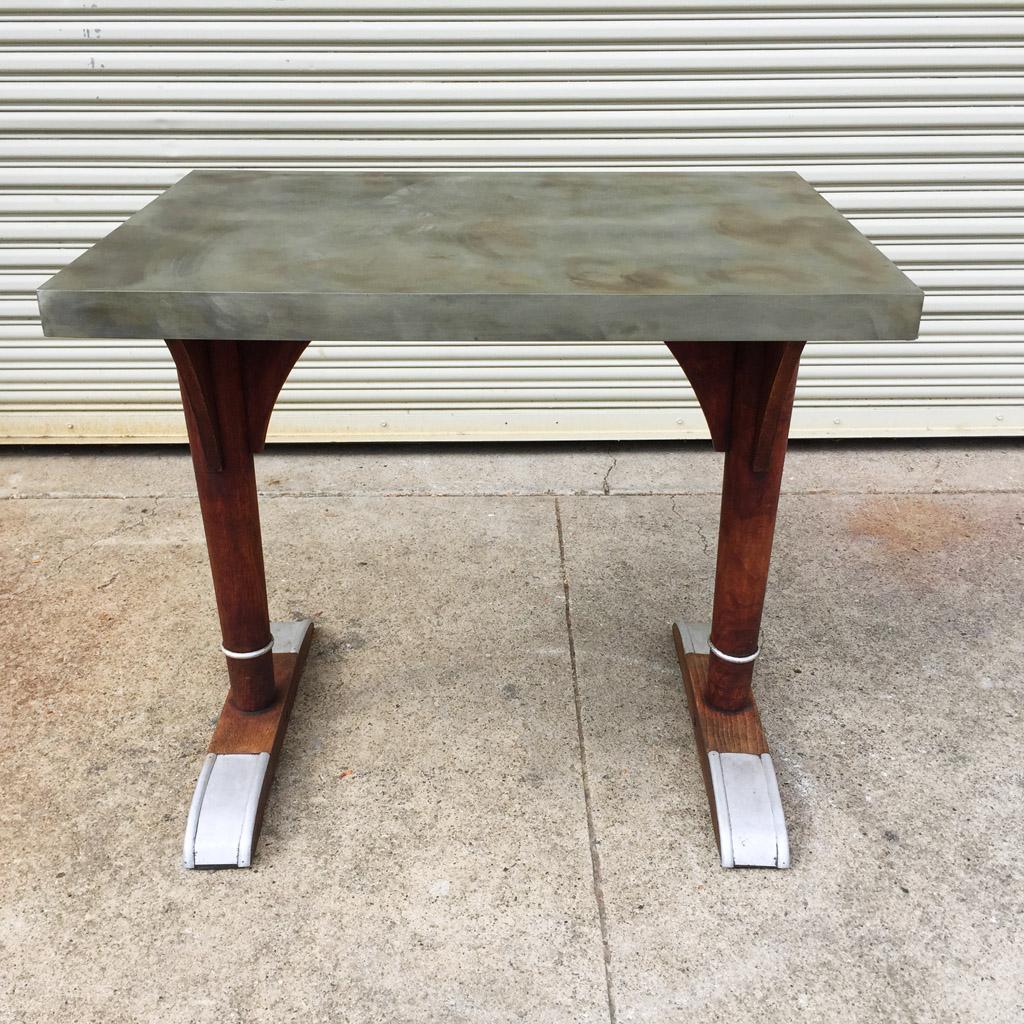 Vintage French Bistro Table Midcenturysanjose