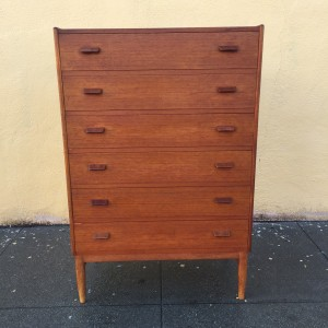 Danish Modern Teak Highboy Dresser