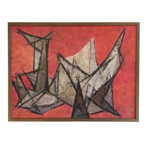 """Hildegarde Haas Painting """"Driftwood"""""""