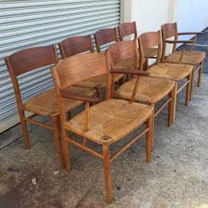 8 Borge Mogensen Dining Chairs