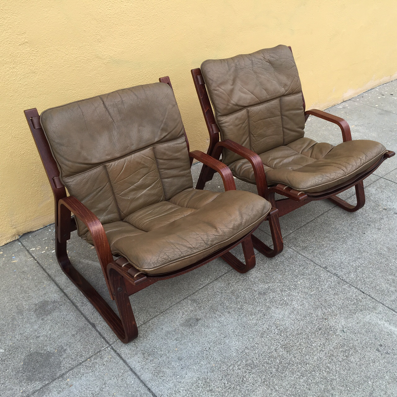 Scandinavian Bentwood Lounge Chairs