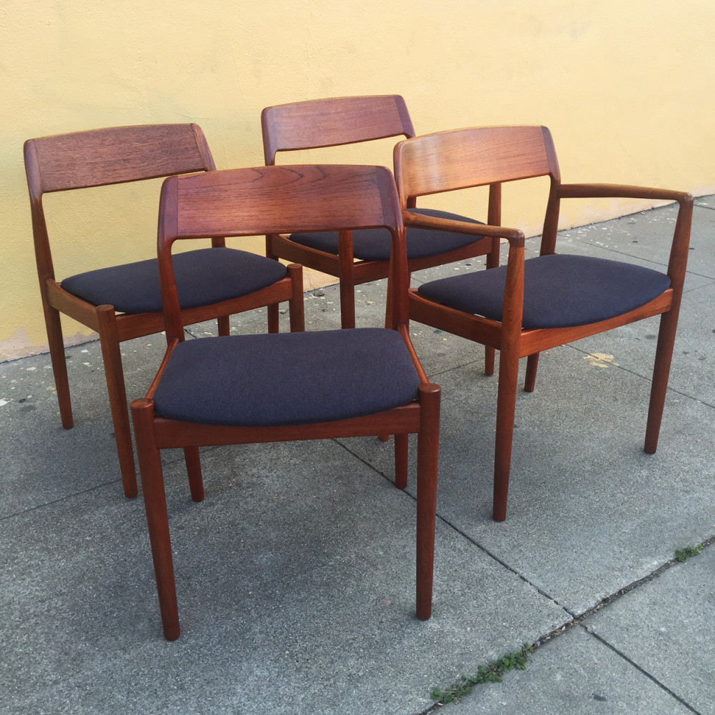 Moller teak dining chairs