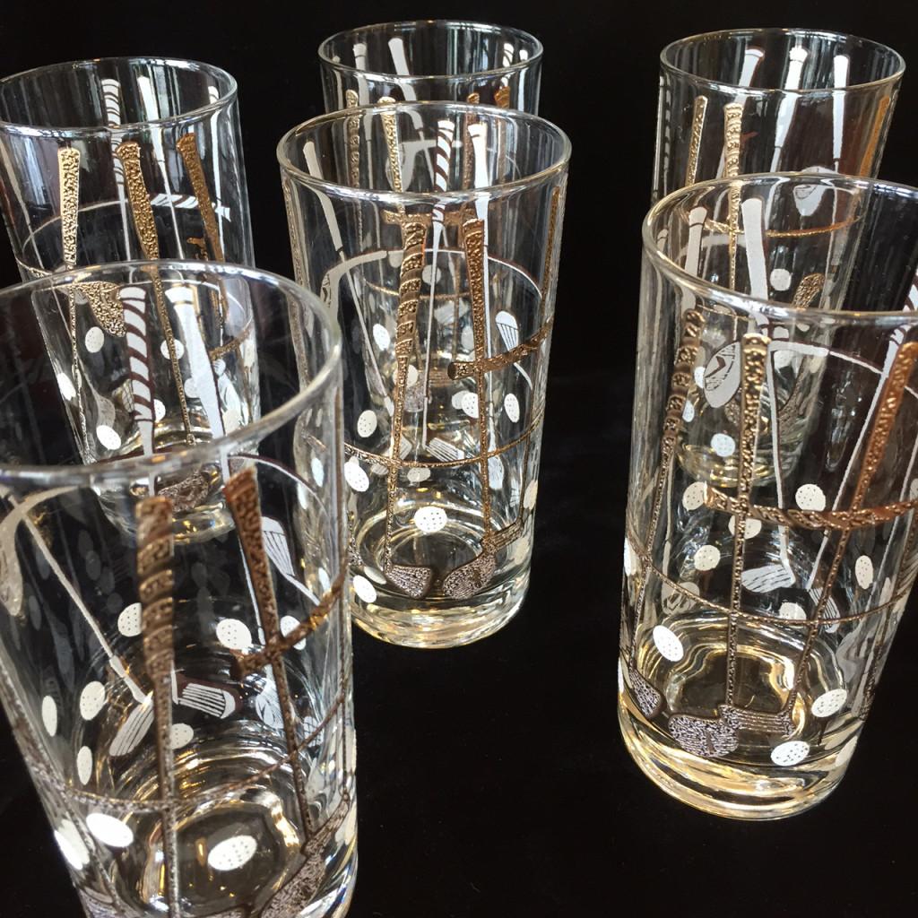 Georges Briard Golf Highball Glasses