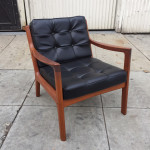 Pair of France & Son Teak Lounge Chairs