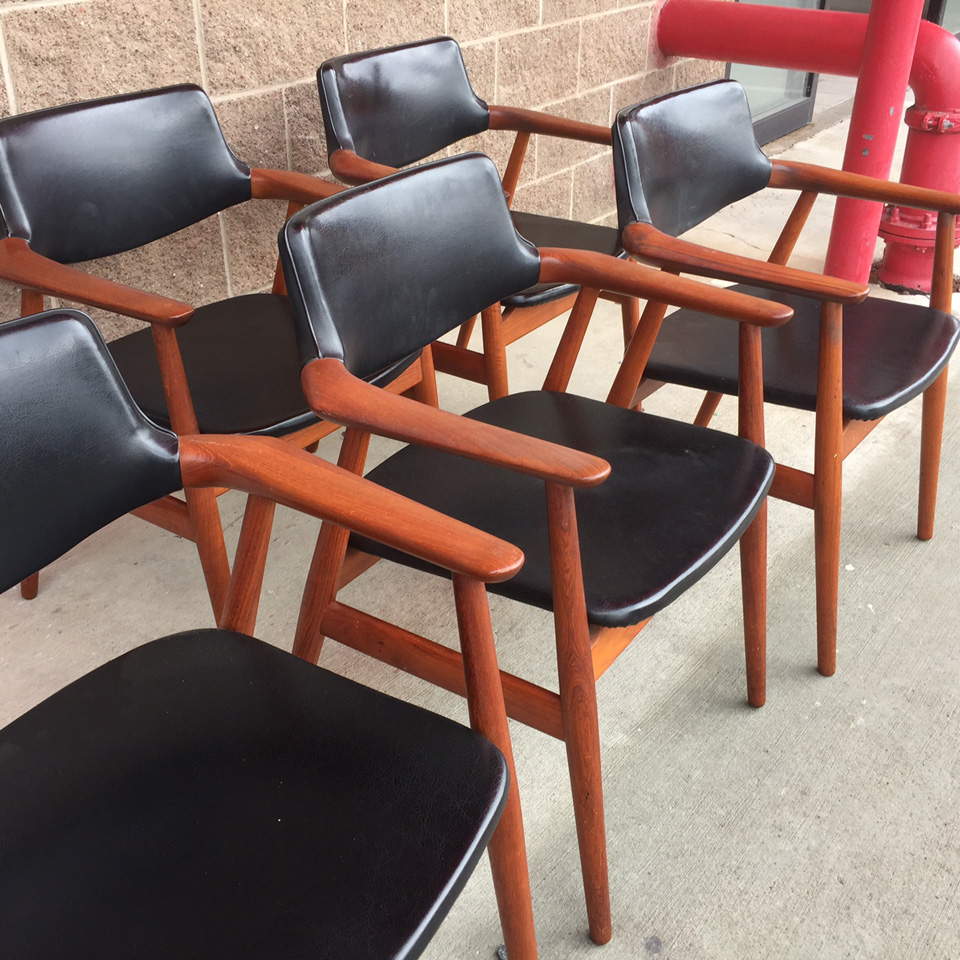 Six Teak Glostrup Dining Chairs Sold Midcenturysanjose