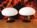 Pair of Bill Curry Stemlite Mushroom Table Lamps