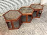 Brown Saltman Hexagon Tables