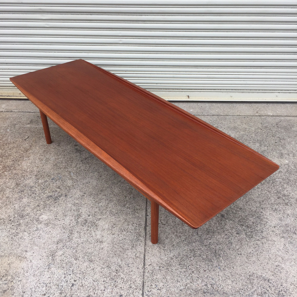 Grete Jalk Teak Surfboard Coffee Table