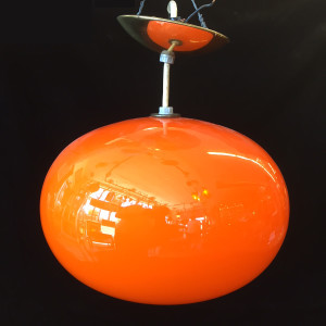 Swedish Cased Glass Pendant Lamp
