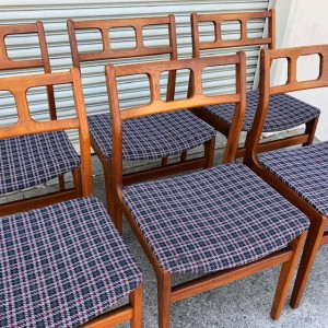 Six D-Scan Teak Chairs