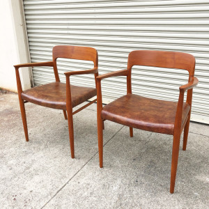 Pair of JL Moller Teak 56 Chairs