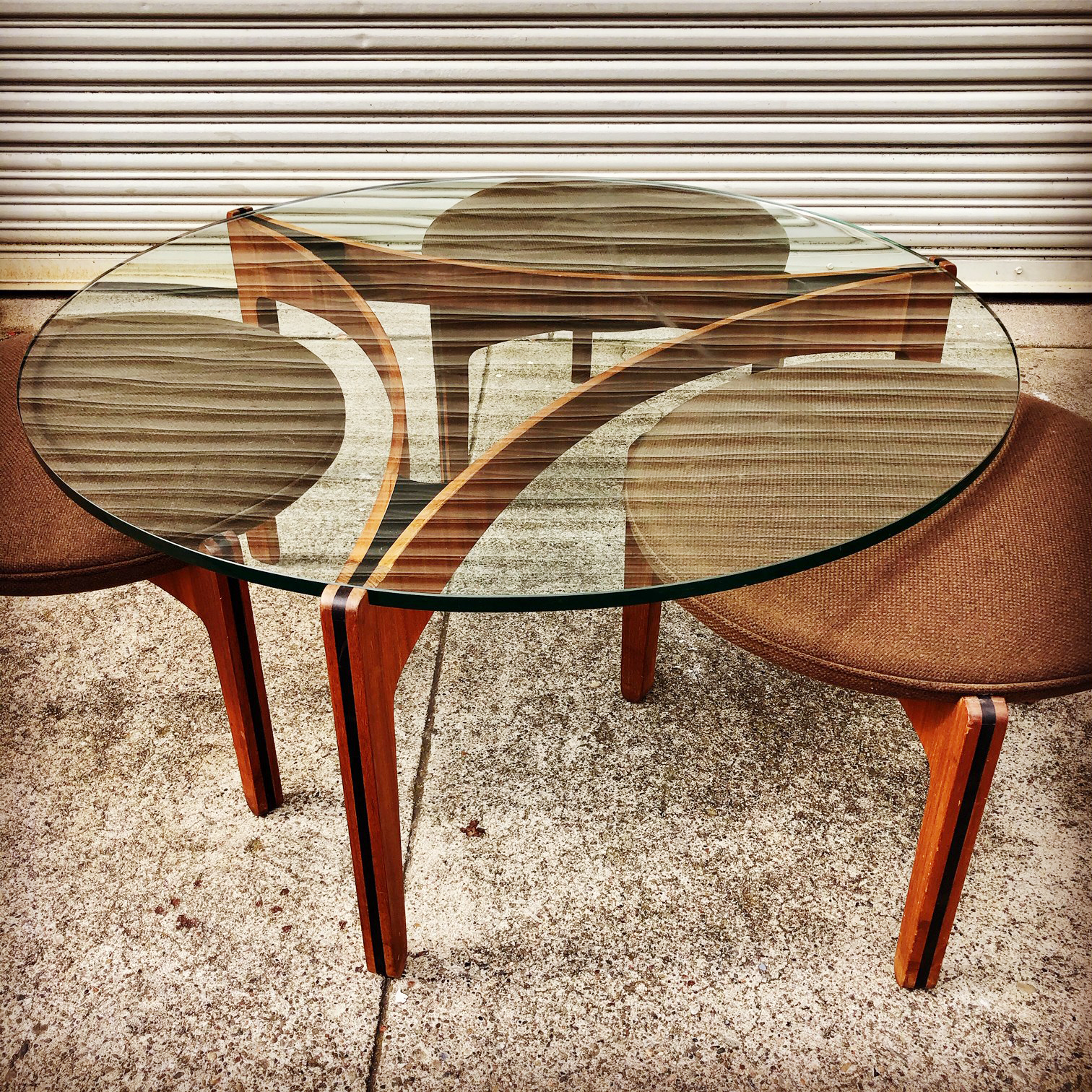 Sven Ellekaer Teak Coffee Table With Three Stools Sold Midcenturysanjose