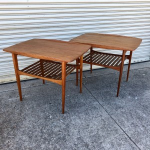 Tove & Edvard Kindt-Larsen France & Son Teak End Tables